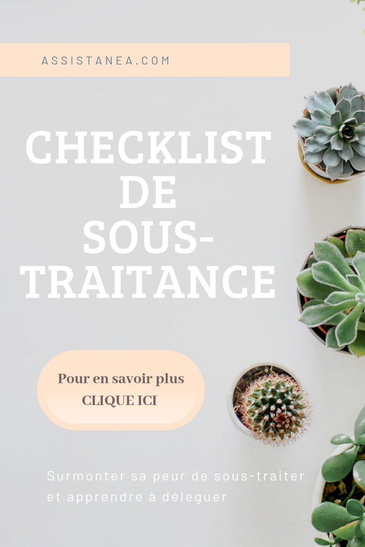 Check-list de sous-traitance - Assistanea