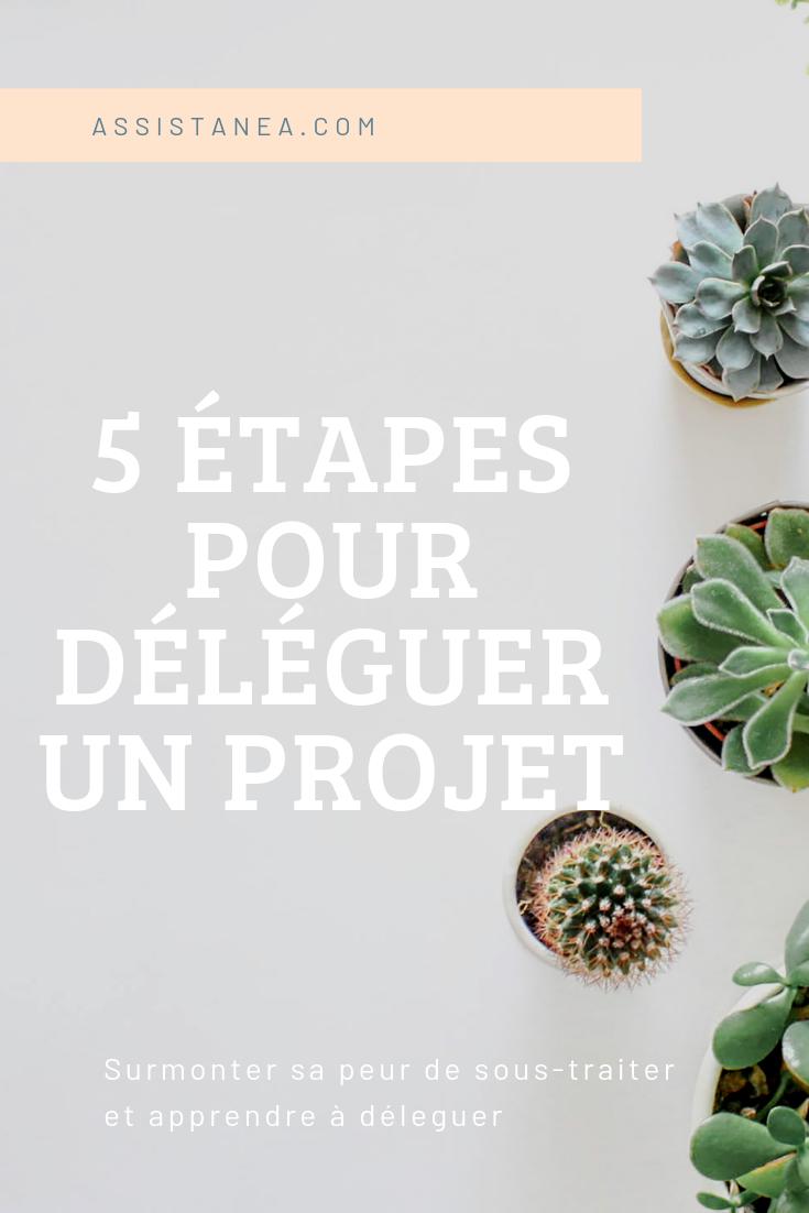 5 étapes pour déléguer un projet - Assistanea