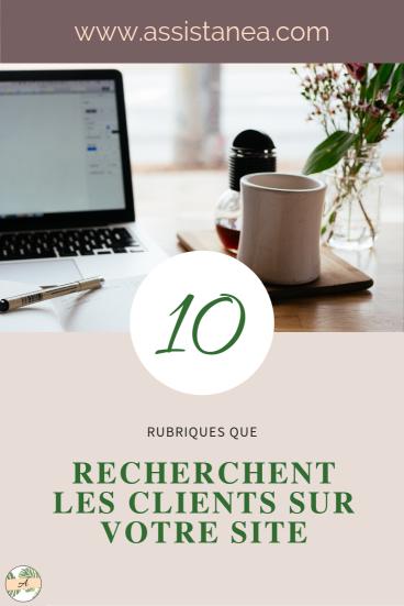 10 CHOSES QUE RECHERCHENT TES CLIENTS SUR TON SITE INTERNET - ASSISTANEA